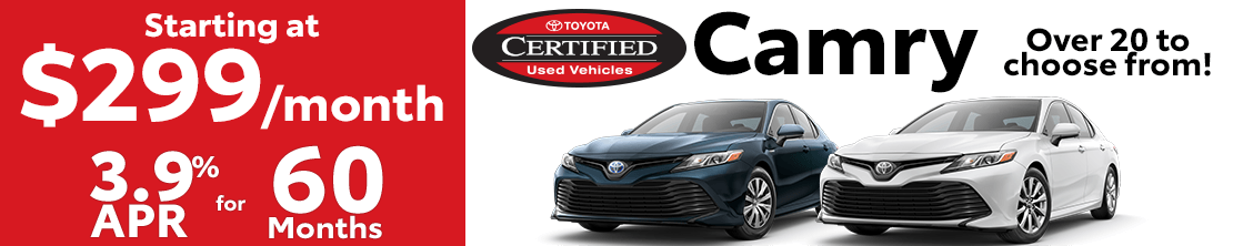 Madison Toyota Certified Used Car Specials
